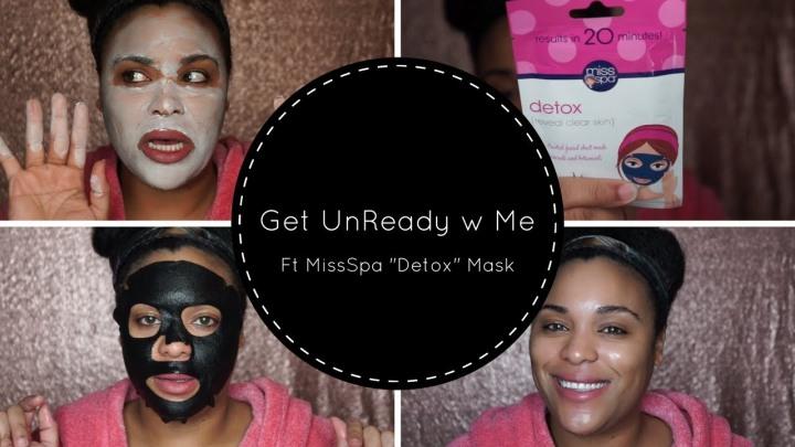 MissSpa Detox Sheet Mask|Get Un Ready withme