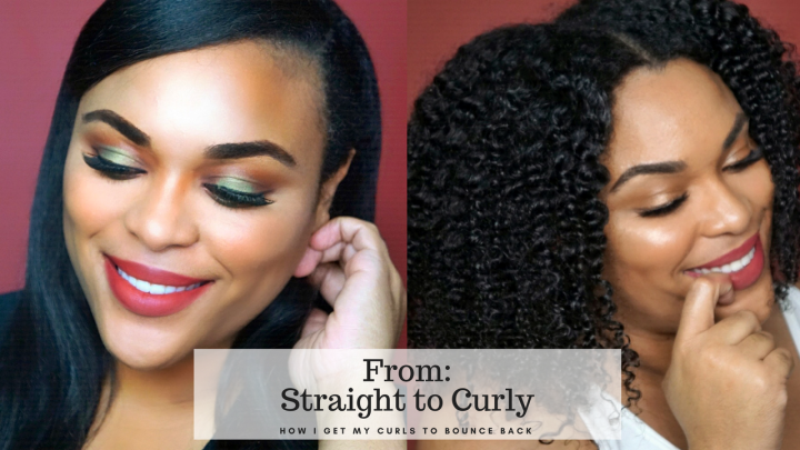 From straight to curly| Watch my natural hair bounce back after 1 month of Straight Hair